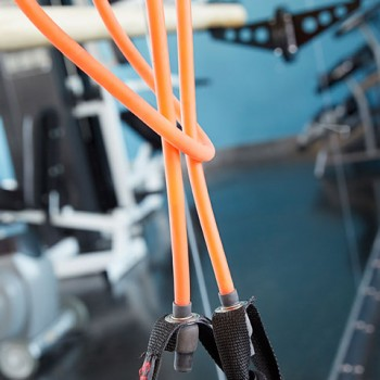 Close-up photo of exercise equipment