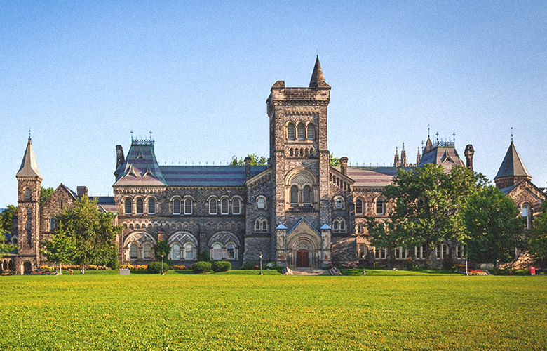 Photograph of a building on the University of Toronto campus