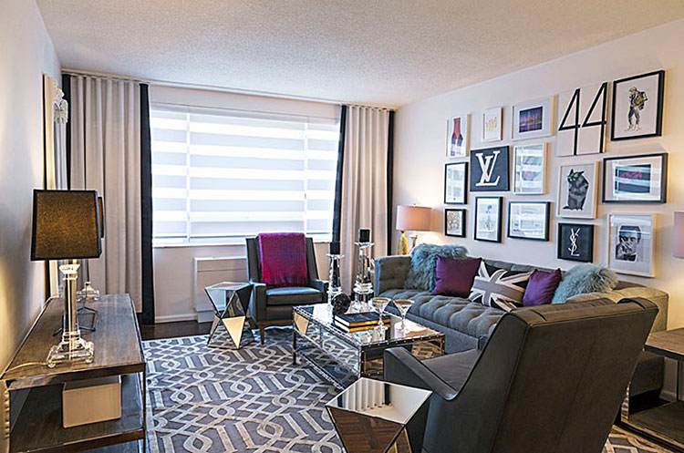 Image of the living room in Suite 1509